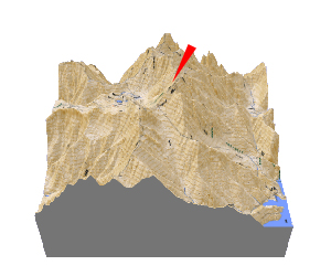 日本百名山、立山の立体地図・模型、贈り物、記念品、プレゼント