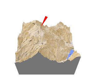 日本百名山・白山の立体地図・模型、贈り物、記念品、プレゼント