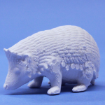 ハリネズミ、模型・飾り・ジオラマに立体の白地材料の製作販売