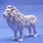 ライオン、模型・飾り・ジオラマに立体の白地材料の製作販売