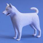 柴犬、模型・飾り・ジオラマに立体の白地材料の製作販売