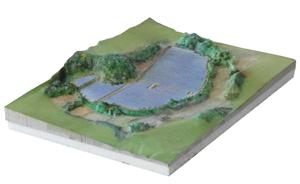 太陽光発電設備設置、立体地図