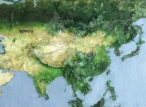 アジア立体地図