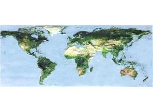 世界地図を3Dプリンターで立体製作します。