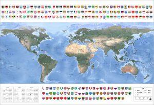 世界地図を特大サイズでオーダーメイド製作します。