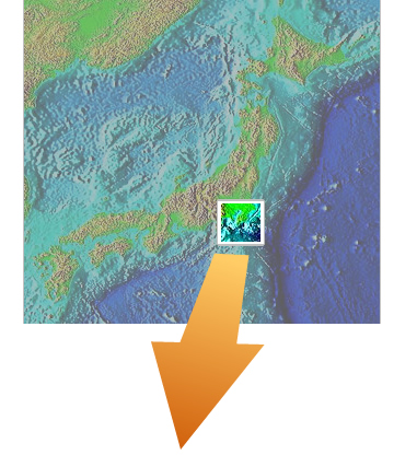 Seabed 3d map seabed 3d geography world wide 3d seabed around tokyo bay into the japan trench gumiabroncs Images